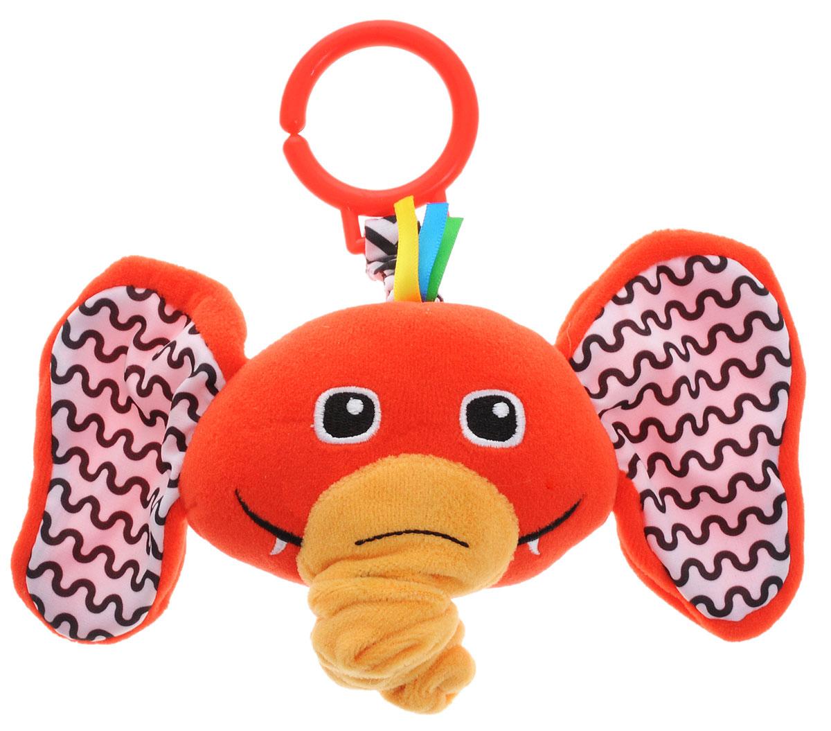 Жирафики Музыкальная игрушка-подвеска Слоник93941Музыкальная игрушка-подвеска Жирафики Слоник не оставит равнодушным ни одного малыша. Выполненная из качественных, приятных на ощупь материалов, игрушка доставит радость ребенку при игре с ней. Игрушка выполнена в виде головы очаровательного слоника. Внутри подвеска содержит музыкальный механизм, который запускается при потягивании за хобот. При этом звучит красивая колыбельная. Крепится подвеска к кроватке или коляске с помощью незамкнутого пластикового кольца. Игрушка-подвеска развивает слуховое восприятие, моторику, зрительно-цветовое восприятие и обладает релаксирующим воздействием.