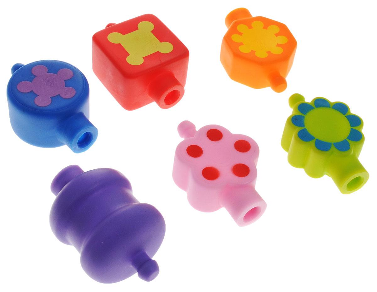 Жирафики Набор игрушек для ванной Бусинка68177Набор игрушек для ванной Жирафики Бусинка понравится вашему ребенку и развлечет его во время купания. Игрушки выполнены из безопасного материала. Бусины различных цветов и форм можно воткнуть друг в друга, соорудив, таким образом, красочную нитку. На каждой бусине изображена какая-нибудь фигура или узор. Играя с бусинами, ребенок учится различать цвета и формы, развивает мелкую моторику рук и тактильные ощущения. Бусины поставляются в пластиковой банке с удобной ручкой на крышке.