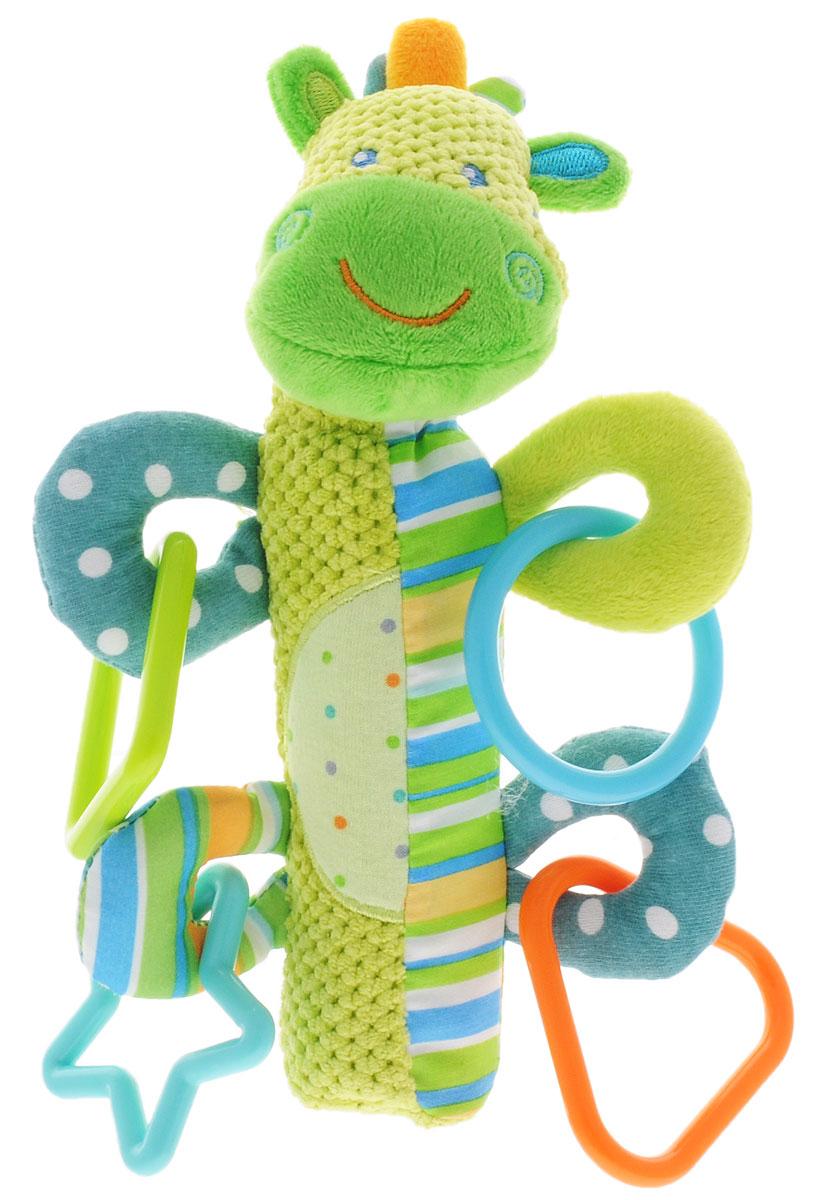 Жирафики Развивающая игрушка-пищалка Зебра93818Развивающая игрушка-пищалка Жирафики Зебра выполнена из текстильных материалов разных цветов и фактур в виде головы веселой зебры, которая пришита к мягкой ручке. Внутри ручки спрятана пищалка. Стоит малышу ее сжать, как он услышит забавный звук. У игрушки имеются пластиковые элементы в виде геометрических фигур. Изделие очень удобно для маленьких детских ручек. Малыш сможет ее держать, трясти, перекладывать из одной ручки в другую. Игрушка-пищалка способствует развитию мышления, координации движений, звукового и цветового восприятия, тактильных ощущений, совершенствует моторику нежных пальчиков малыша.
