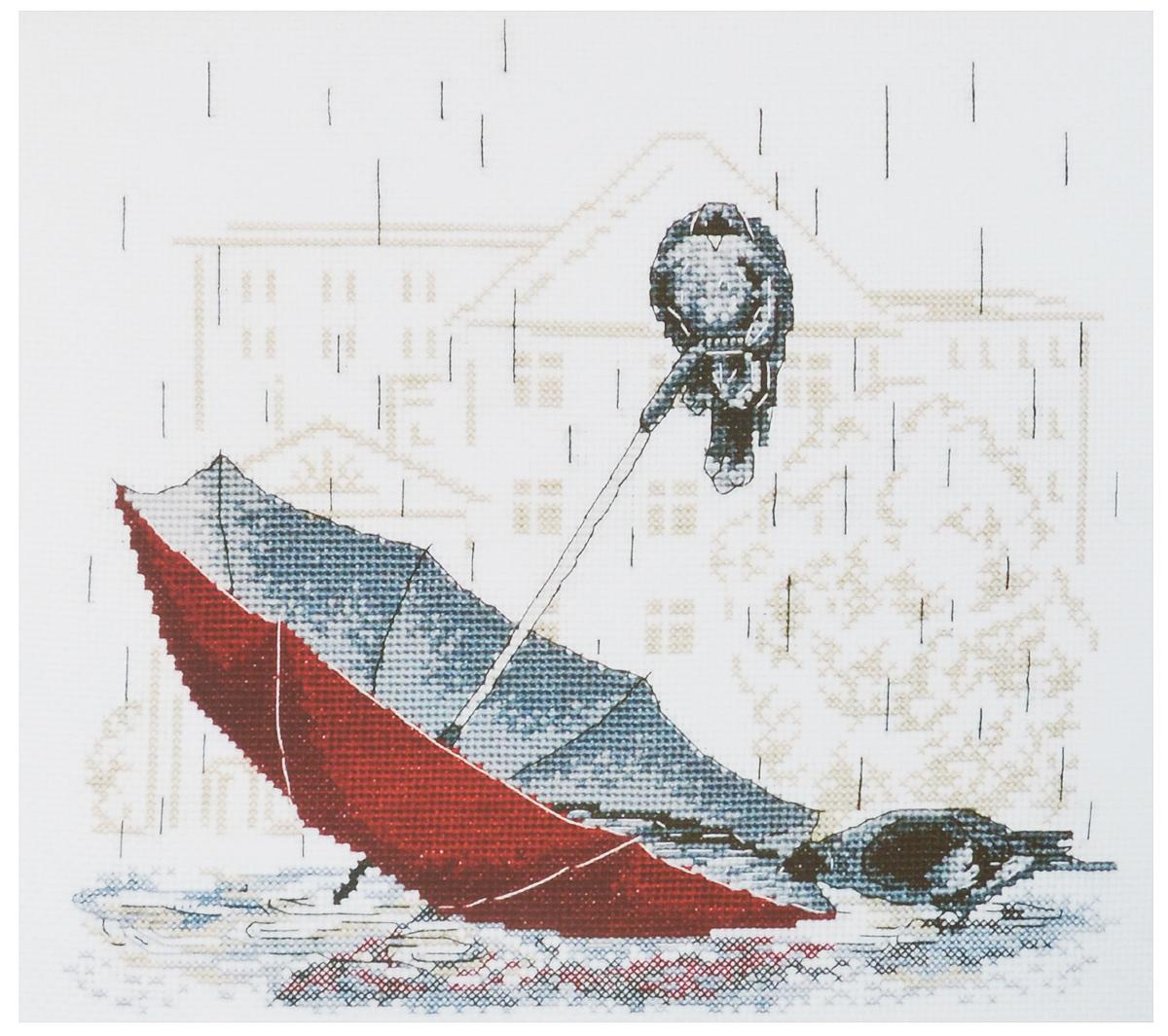 Набор для вышивания крестом Овен Грустный зонтик, 25 х 23 см набор для вышивания крестом овен гламурка 25 х 25 см 562137