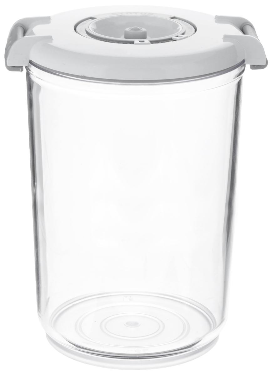 Контейнер вакуумный Status, с индикатором даты срока хранения, цвет: прозрачный, белый, 1,5 лVAC-RD-15 WhiteВакуумный контейнер Status выполнен из хрустально-прозрачного прочного тритана. Благодаря вакууму, продукты не подвергаются внешнему воздействию, и срок хранения значительно увеличивается, сохраняют свои вкусовые качества и аромат, а запахи в холодильнике не перемешиваются. Допускается замораживание до -21°C, мойка контейнера в посудомоечной машине, разогрев в СВЧ (без крышки). Рекомендовано хранение следующих продуктов: макаронные изделия, крупа, мука, кофе в зёрнах, сухофрукты, супы, соусы. Контейнер имеет индикатор даты, который позволяет отмечать дату конца срока годности продуктов. Размер контейнера (с учетом крышки): 13 х 13 х 19,5 см.