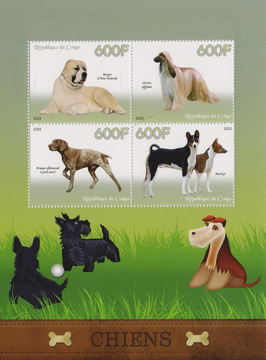 38 Малый лист Собаки. Конго, 2014 годМКСПБ 37-2016.38