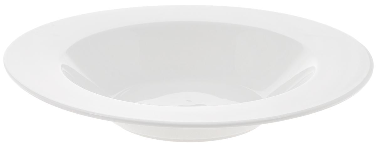 Тарелка глубокая Wilmax, диаметр 30,5 см. WL-991256WL-991256Глубокая тарелка Wilmax, выполненная из высококачественного фарфора, предназначена для красивой сервировки праздничного или обеденного стола. Она прекрасно впишется в интерьер вашей кухни и станет достойным дополнением к кухонному инвентарю. Тарелка Wilmax подчеркнет прекрасный вкус хозяйки и станет отличным подарком для вас и ваших близких. Можно мыть в посудомоечной машине и использовать в микроволновой печи. Диаметр тарелки (по верхнему краю): 30,5 см. Объем: 950 мл.