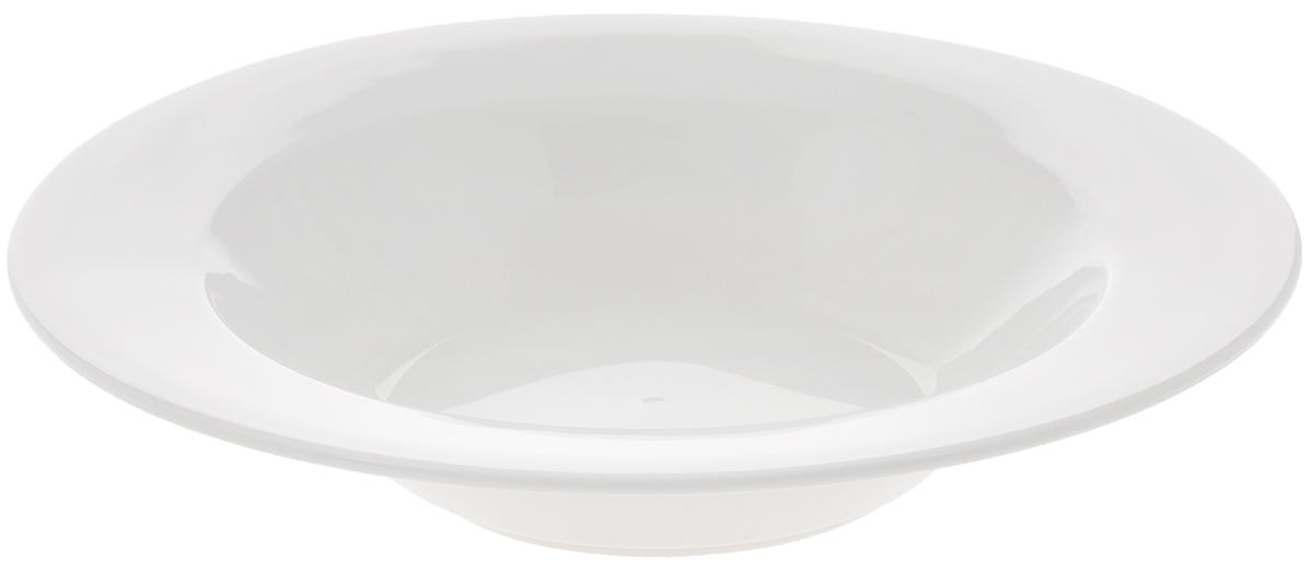 Тарелка глубокая Wilmax, диаметр 20 см. WL-991252WL-991252Глубокая тарелка Wilmax, выполненная из высококачественного фарфора, имеет классическую круглую форму и предназначена для красивой сервировки обеденного стола. Она прекрасно впишется в интерьер вашей кухни и станет достойным дополнением к кухонному инвентарю. Тарелка Wilmax подчеркнет прекрасный вкус хозяйки и станет отличным подарком для вас и ваших близких. Можно мыть в посудомоечной машине и использовать в микроволновой печи. Диаметр тарелки (по верхнему краю): 20 см. Объем: 330 мл.