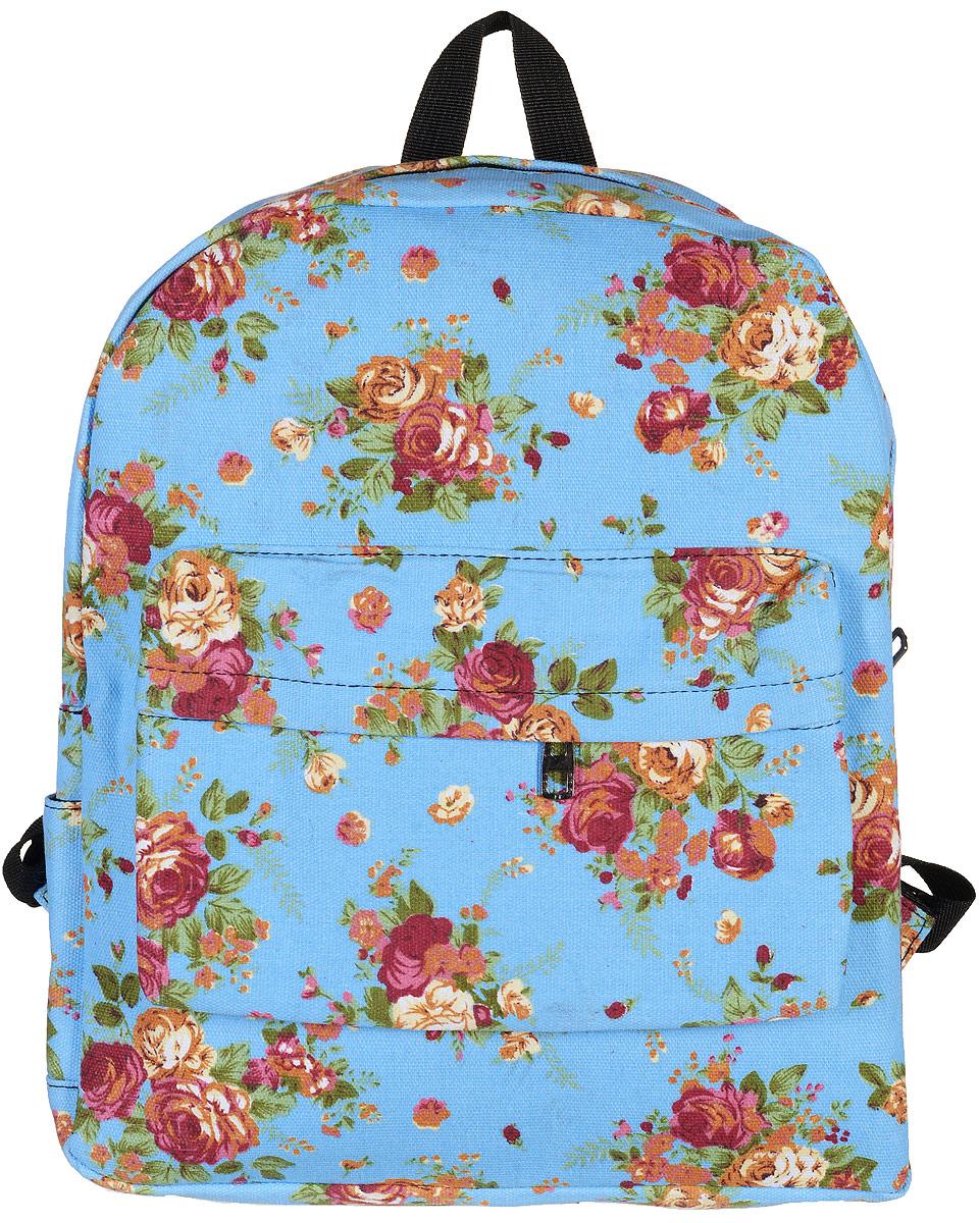 Рюкзак женский Kawaii Factory Flower Bouquets, цвет: голубой. KW102-000055KW102-000055Нежный рюкзак с цветочным принтом Flower Bouquets от Kawaii Factory приведет в восторг многих девушек. Романтичные цветы отлично подчеркнут женственность и элегантность хозяйки. Рюкзак очень прочный и вместительный. В нем можно разместить необходимое количество вещей для спорта или учебы. Прочные качественные лямки удобно распределят вес так, чтобы спина не уставала к концу активного дня в городе. Снаружи есть карман на молнии. Внутри большой карман без застежки и карман для телефона и мелочей. Благодаря отличной эргономичности прогулочный рюкзак будет практически невесомым на вашей спине. Простой, но в то же время стильный - он определенно выделит своего обладателя из толпы и непременно поднимет настроение. А яркий современный дизайн, который является основной фишкой данной модели, будет радовать глаз.