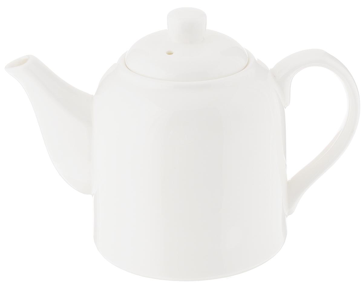 Чайник заварочный Wilmax, 500 мл. WL-994033 / 1CWL-994033 / 1CЗаварочный чайник Wilmax изготовлен из высококачественного фарфора. Глазурованное покрытие обеспечивает легкую очистку. Изделие прекрасно подходит для заваривания вкусного и ароматного чая, а также травяных настоев. Ситечко в основании носика препятствует попаданию чаинок в чашку. Оригинальный дизайн сделает чайник настоящим украшением стола. Он удобен в использовании и понравится каждому. Можно мыть в посудомоечной машине и использовать в микроволновой печи. Диаметр чайника (по верхнему краю): 4,5 см. Высота чайника (без учета крышки): 9,5 см.
