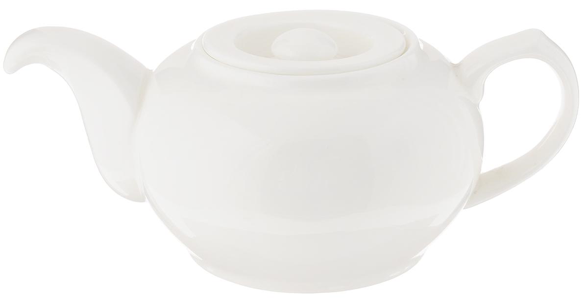 Чайник заварочный Wilmax, 500 мл. WL-994036 / 1CWL-994036 / 1CЗаварочный чайник Wilmax изготовлен из высококачественного фарфора. Глазурованное покрытие обеспечивает легкую очистку. Изделие прекрасно подходит для заваривания вкусного и ароматного чая, а также травяных настоев. Ситечко в основании носика препятствует попаданию чаинок в чашку. Оригинальный дизайн сделает чайник настоящим украшением стола. Он удобен в использовании и понравится каждому. Можно мыть в посудомоечной машине и использовать в микроволновой печи. Диаметр чайника (по верхнему краю): 5,5 см. Высота чайника (без учета крышки): 7,5 см.