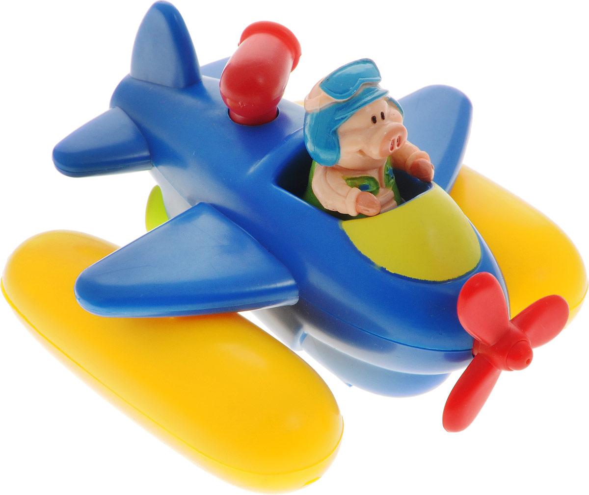 Жирафики Игрушка для ванной Аэроплан681120Игрушка для ванной Жирафики Аэроплан привлечет внимание вашего малыша и не позволит ему скучать. Игрушка выполнена в виде гидросамолета со свинкой-пилотом. Пропеллер самолетика свободно вращается. Игрушка имеет встроенный заводной механизм, обеспечивающий вращение винта на днище самолетика, благодаря чему он плывет вперед и брызгается водой. Заводится игрушка с помощью декоративного элемента в виде турбины за спиной пилота. Выполненная из качественных материалов, игрушка будет радовать малыша долгое время. Игрушка способствует развитию мелкой моторики, сенсорного восприятия и воображения.