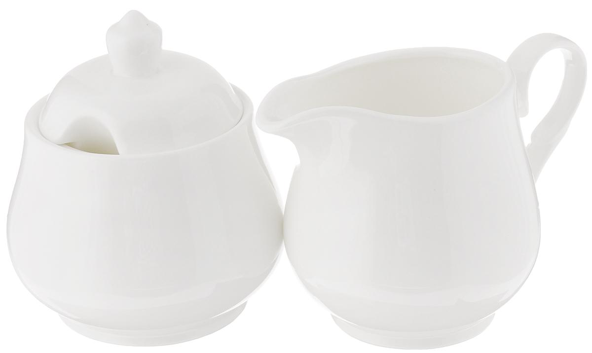 Набор Wilmax: сахарница, молочник. WL-995024 / 2CWL-995024 / 2CНабор Wilmax, состоящий из сахарницы с крышкой и молочника, выполнен из высококачественного фарфора. Изделия, декорированные красочным изображением цветов, имеют изысканный внешний вид. Такой набор прекрасно подойдет для сервировки стола и станет незаменимым атрибутом чаепития. Изделия можно мыть в посудомоечной машине и использовать в микроволновой печи. Объем молочника: 310 мл. Объем сахарницы: 340 мл.