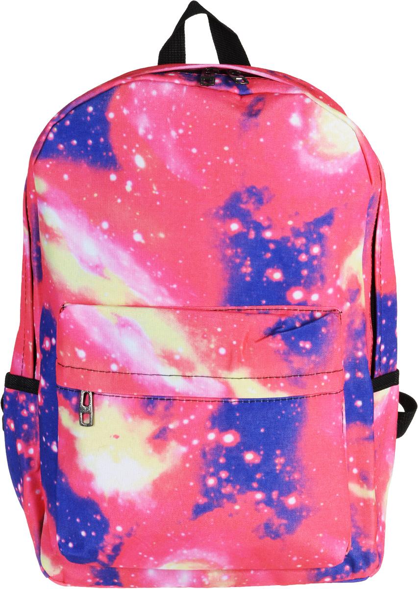 Рюкзак Kawaii Factory Space, цвет: розовый, синий. KW102-000180KW102-000180Легкий, удобный космический рюкзак Space от Kawaii Factory - идеально подойдет для прогулок по городу или учебы. Этот молодежный рюкзак с космическим принтом может вместить все, что может пригодится на протяжении насыщенного дня - документы, бумаги, современные гаджеты и даже запасной наряд. В нем есть все, что нужно - одно основное отделение, закрывающееся на застежку-молнию, один внутренний накладной карман, а также карман на молнии на передней части рюкзака. По бокам имеются небольшие открытые кармашки для различных мелочей. Благодаря отличной эргономичности прогулочный рюкзак будет практически невесомым на вашей спине. Простой, но в то же время стильный - он определенно выделит своего обладателя из толпы и непременно поднимет настроение. А яркий современный дизайн, который является основной фишкой данной модели, будет радовать глаз.
