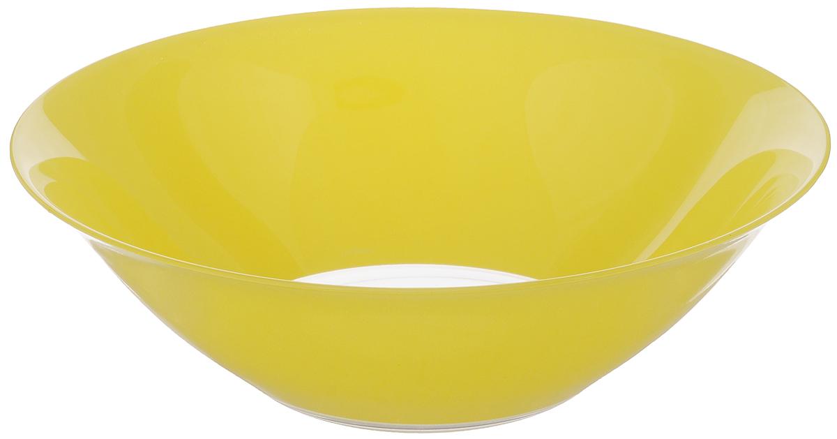 Салатник Luminarc Fizz, диаметр 27 смG9563Салатник Luminarc Fizz выполнен из ударопрочного стекла. Яркий дизайн придется по вкусу и ценителям классики, и тем, кто предпочитает изысканность. Салатник Luminarc Fizz идеально подойдет для сервировки стола и станет отличным подарком к любому празднику. Можно мыть в посудомоечной машине и использовать в микроволновой печи. Диаметр (по верхнему краю): 27 см. Высота стенки: 8,5 см.