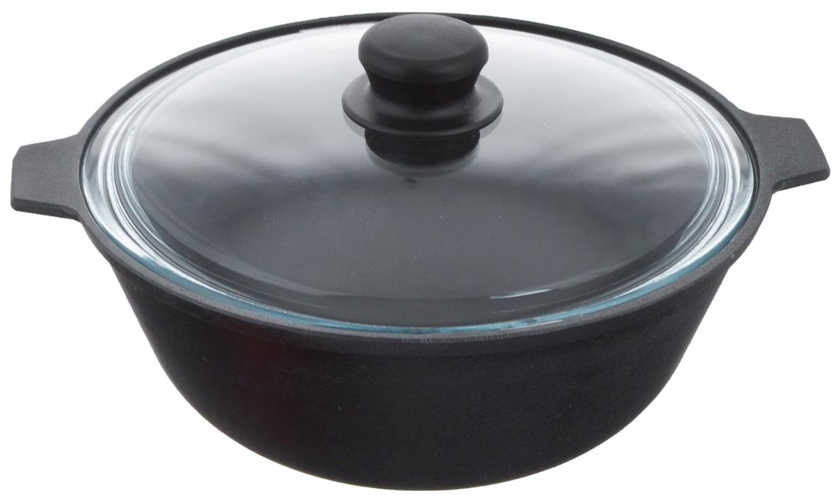 Котел чугунный Добрыня, с крышкой, 3 л. DO-3331DO-3331Котел Добрыня изготовлен из натурального, экологически безопасного чугуна. Чугун является одним из лучших материалов для производства посуды. Он очень практичный, не выделяет токсичных веществ, обладает высокой теплоемкостью и способен служить долгие годы. Чугунная посуда очень прочная и обладает превосходными природными антипригарными свойствами. Она не боится механических повреждений, царапин или высоких температур, однако тяжелее обычных и не очень любит длительный контакт с водой. Чугунная посуда была популярна сотни лет и до сих пор остается такой. Свое качество и уникальные свойства она подтверждает в деле. Котел подходит для всех типов плит, включая индукционные, а также для приготовления пищи на костре. Рекомендуется мыть вручную. В комплект входит стеклянная крышка. Высота стенки: 10,5см. Объем котла: 3 л. Диаметр котла (по верхнему краю): 24 см.
