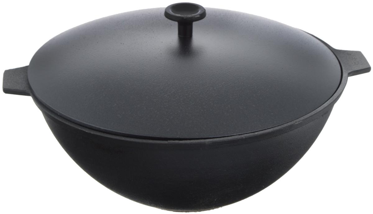 Котел чугунный Добрыня, с крышкой, 5 л. DO-3336DO-3336Котел Добрыня изготовлена из натурального экологически безопасного чугуна. Изделие оснащено двумя ручками и алюминиевой крышкой. Котел является одним из лучших материалов для производства посуды. Его можно нагревать до высоких температур. Он очень практичный, не выделяет токсичных веществ, обладает высокой теплоемкостью и способен служить долгие годы. Такой котел замечательно подойдет для приготовления жаренных и тушеных блюд. Подходит для всех типов плит, включая индукционные. Изделие мыть только вручную. Диаметр котла по верхнему краю: 28 см. Ширина котла с (учетом ручек): 35 см. Высота стенки: 12,5 см.