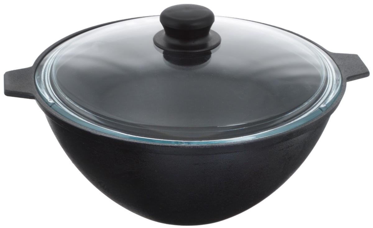Котел чугунный Добрыня, с крышкой, 4 л. DO-3333DO-3333Котел Добрыня изготовлен из натурального, экологически безопасного чугуна и снабжен стеклянной крышкой. Чугун является одним из лучших материалов для производства посуды. Он очень практичный, не выделяет токсичных веществ, обладает высокой теплоемкостью и способен служить долгие годы. Чугунная посуда очень прочная и обладает превосходными природными антипригарными свойствами. Она не боится механических повреждений, царапин или высоких температур, однако тяжелее обычных и не очень любит длительный контакт с водой. Чугунная посуда была популярна сотни лет и до сих пор остается такой. Свое качество и уникальные свойства она подтверждает в деле. Котел подходит для всех типов плит, включая индукционные, а также для приготовления пищи на костре. Рекомендуется мыть вручную. Высота стенки: 13 см. Объем котла: 4 л. Диаметр котла (по верхнему краю): 28,3 см.