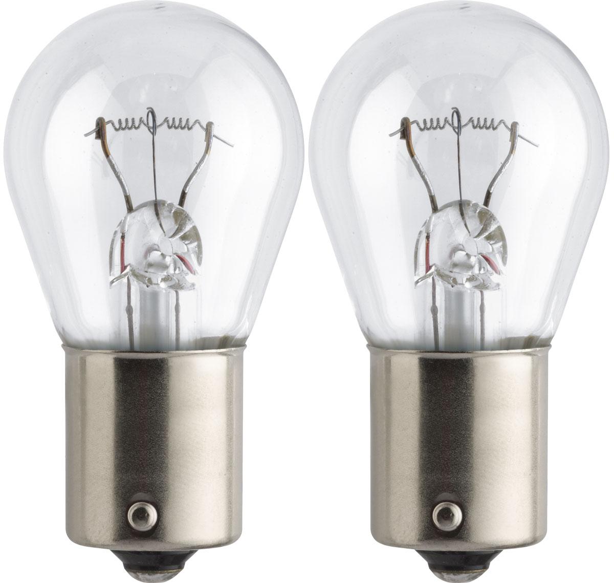 Лампа автомобильная галогенная Philips Standard, сигнальная, цоколь P21W (BA15s), 24V, 21W, 2 шт13498B2 (бл.2)Автомобильная галогенная лампа Philips Standard произведена из запатентованного кварцевого стекла с УФ-фильтром Philips Quartz Glass. Кварцевое стекло Philips с УФ фильтром в отличие от обычного твердого стекла выдерживает гораздо большее давление смеси газов внутри колбы, что препятствует быстрому испарению вольфрама с нити накаливания. Кварцевое стекло выдерживает большой перепад температур, при попадании влаги на работающую лампу изделие не взрывается и продолжает работать. Автомобильная лампа Philips Standard с напряжением питания 24 В предназначена для автобусов и грузовиков, она создает максимальную безопасность и комфорт при вождении, а также отличается экономичностью, непревзойденным сроком службы и повышенной устойчивостью к вибрациям. Такие лампы являются отличным световым решением, соответствуют стандартам качества для оригинального оборудования и обеспечивают максимальную производительность и минимальное время простоя. ...