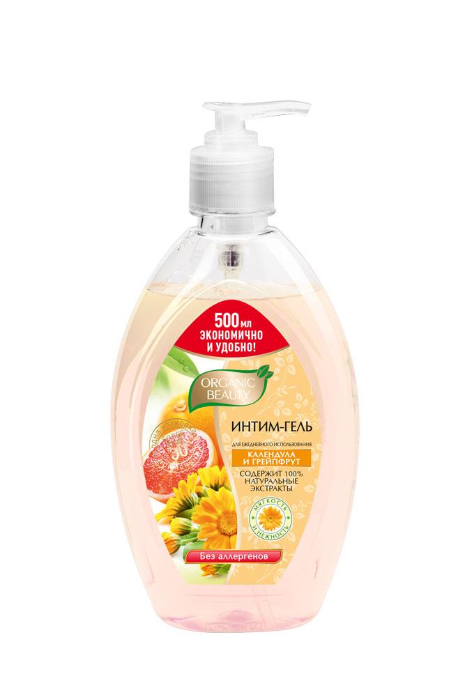 Organic Beauty Интим-гель Календула и грейпфрут, 500 мл