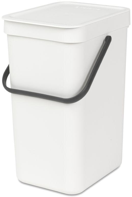 Ведро для мусора Brabantia Sort & Go, цвет: белый, 12 л109782Эти 12-литровые ведра можно использовать для раздельного сбора любых домашних отходов, например, бутылок, банок или пластиковой упаковки. Большая ручка и удобный захват снизу позволяют удобно освободить ведро от мусора. Идеальное решение для раздельного сбора домашних отходов. Может использоваться на полу или крепиться к стене – в комплект входит настенный держатель; Имеются идеально подходящие по размеру мешки Brabantia PerfectFit с завязками (размер C) – удобно устанавливаются в ведро; Имеются идеально подходящие по размеру биоразлагаемые мешки для компостируемых отходов (размер С) – удобно устанавливаются в ведро; Гарантия 10 лет.