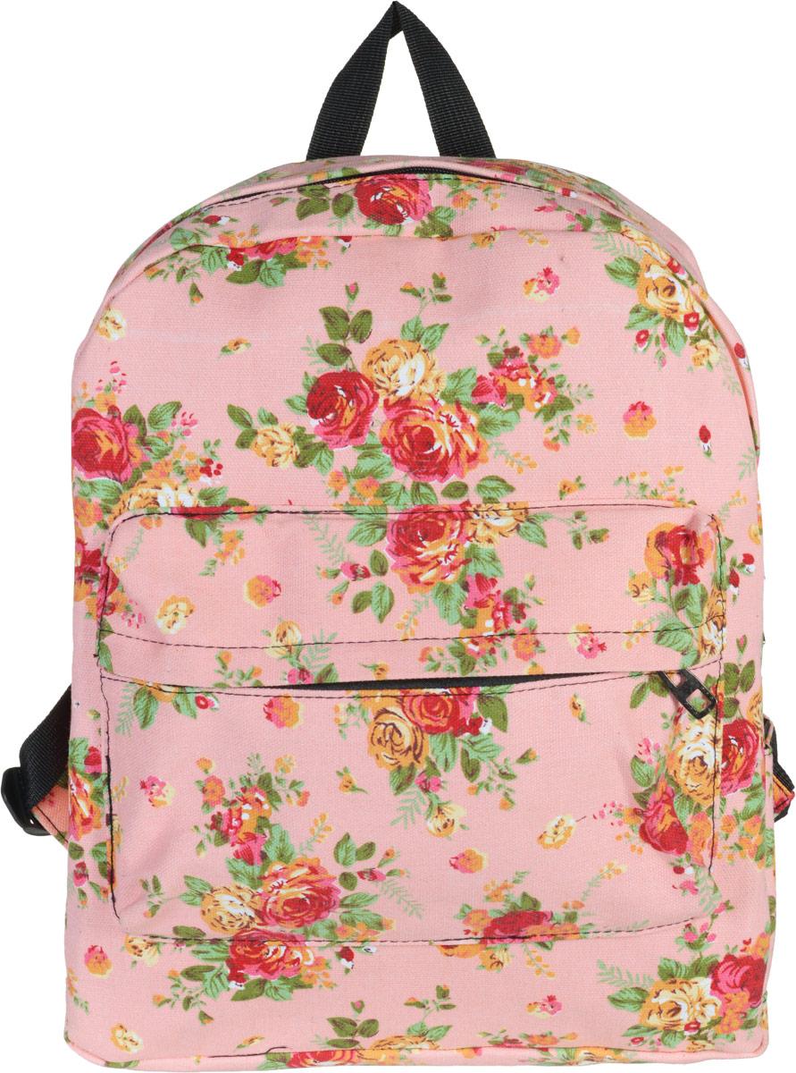 Рюкзак женский Kawaii Factory Flower Bouquets, цвет: розовый. KW102-000042KW102-000042Нежный рюкзак с цветочным принтом Flower Bouquets от Kawaii Factory приведет в восторг многих девушек. Романтичные цветы и зефирная окраска отлично подчеркнут женственность и элегантность хозяйки . Рюкзак очень прочный и вместительный. В нем можно разместить необходимое количество вещей для спорта или учебы. Прочные качественные лямки удобно распределят вес так, чтобы спина не уставала к концу активного дня в городе. Снаружи есть карман на молнии. Внутри большой карман без застежки и карман для телефона и мелочей. Благодаря отличной эргономичности прогулочный рюкзак будет практически невесомым на вашей спине. Простой, но в то же время стильный - он определенно выделит своего обладателя из толпы и непременно поднимет настроение. А яркий современный дизайн, который является основной фишкой данной модели, будет радовать глаз.