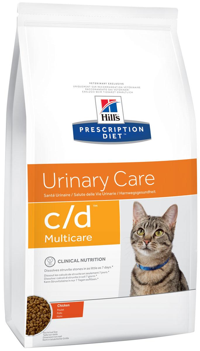 Корм сухой диетический Hills C/D для кошек, профилактика МКБ и струвитов, с курицей, 1,5 кг9185Сухой корм для кошек Hills C/D - полноценный диетический рацион для кошек. Рекомендован при урологическом синдроме кошек склонных к набору веса (для снижения вероятности рецидивов струвитного уролитиаза). Рацион обладает закисляющими мочу свойствами и содержит умеренный уровень магния. Растворяет струвитные уролиты уже через 14 дней и предотвращает рецидивы заболевания. - Превосходный вкус понравится вашей кошке. - Супер Антиоксидантная формула повышает устойчивость клеток организма к воздействию свободных радикалов. Рекомендации по кормлению: суточная норма кормления указана на упаковке и должна быть расчитана в соответствии с размером животного, чтобы поддерживать оптимальный вес. Суточную норму можно разделить на 2 и более кормлений в день. Рекомендуемая продолжительность диетотерапии: до 6 месяцев. Обеспечьте питомца постоянным свободным доступом к свежей воде. Состав: зерновые злаки, мясо и пептиды животного происхождения,...