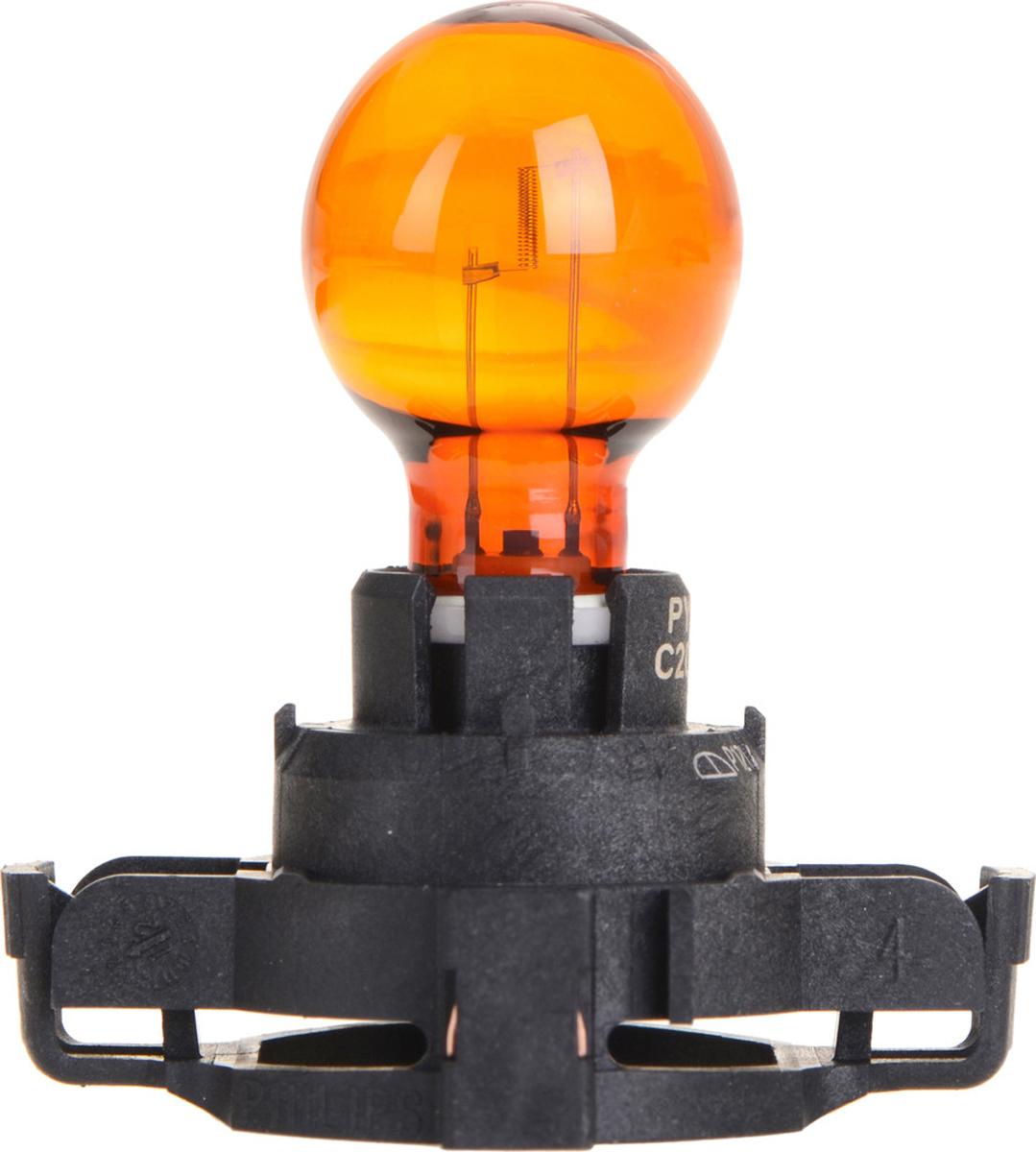 Лампа автомобильная галогенная Philips Vision, сигнальная, цоколь PY24W (PGU20/4), 12V, 24W12190NAC1Автомобильная лампа Philips Vision изготовлена из запатентованного кварцевого стекла с УФ- фильтром Philips Quartz Glass. Кварцевое стекло в отличие от обычного стекла выдерживает гораздо большее давление и больший перепад температур. При попадании влаги на работающую лампу, лампа не взрывается и продолжает работать. Лампа Philips Vision производит на 30% больше света по сравнению со стандартной лампой, благодаря чему стоп-сигналы или указатели поворота будут заметны с большего расстояния. Лампа Philips Vision отличается высокой эффективностью, соответствуя всем современным требованиям.