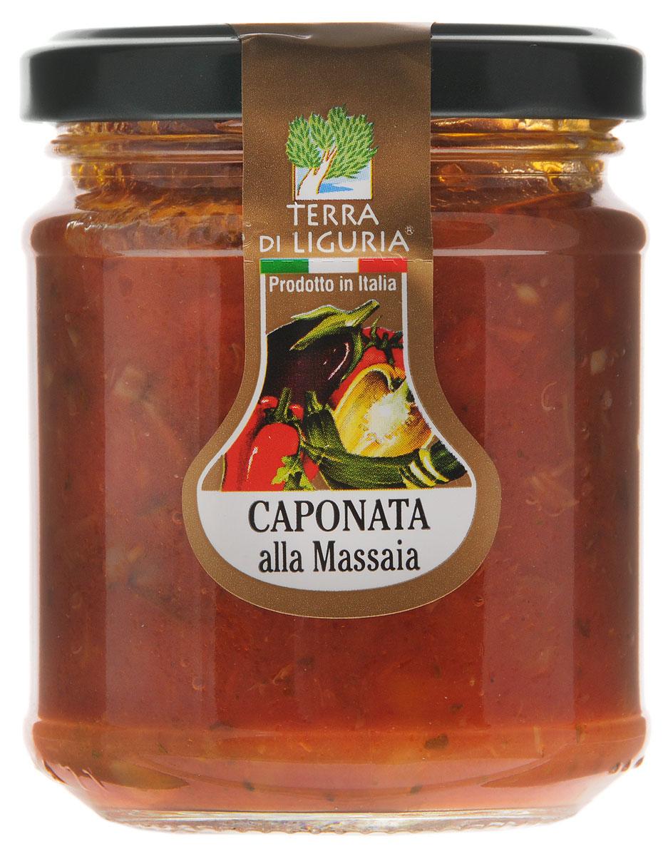 Terra Di Liguria овощное рагу, 180 гSUCAPTDLОвощное рагу Terra Di Liguria - это традиционное сицилийское блюдо, которое готовится из овощей с добавлением оливок. Для производства продукта используются только местные итальянские овощи.
