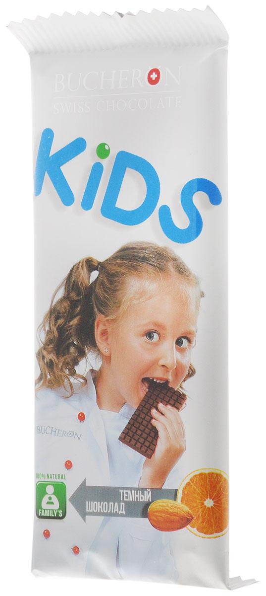 Bucheron Kids темный шоколад с апельсином и миндалем, 50 г14.0539Благородный темный швейцарский шоколад с сочными кусочками апельсина и тонкими хрустящими пластинками миндаля.