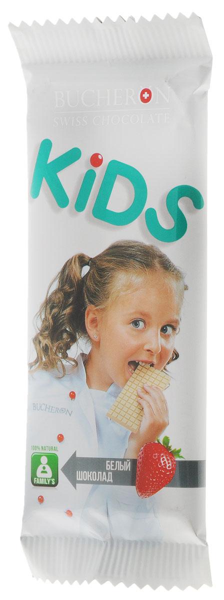 Bucheron Kids белый шоколад со взрывной карамелью и клубникой, 50 г