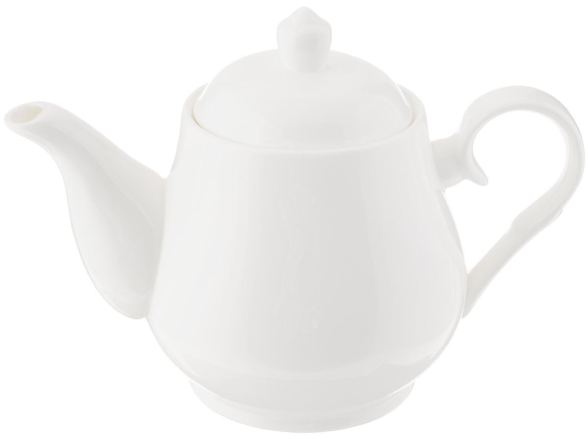 Чайник заварочный Wilmax, 850 млWL-994020 / 1CЗаварочный чайник Wilmax изготовлен из высококачественного фарфора. Глазурованное покрытие обеспечивает легкую очистку. Изделие прекрасно подходит для заваривания вкусного и ароматного чая, а также травяных настоев. Ситечко в основании носика препятствует попаданию чаинок в чашку. Оригинальный дизайн сделает чайник настоящим украшением стола. Он удобен в использовании и понравится каждому. Можно мыть в посудомоечной машине и использовать в микроволновой печи. Диаметр чайника (по верхнему краю): 7 см. Высота чайника (без учета крышки): 12,5 см.