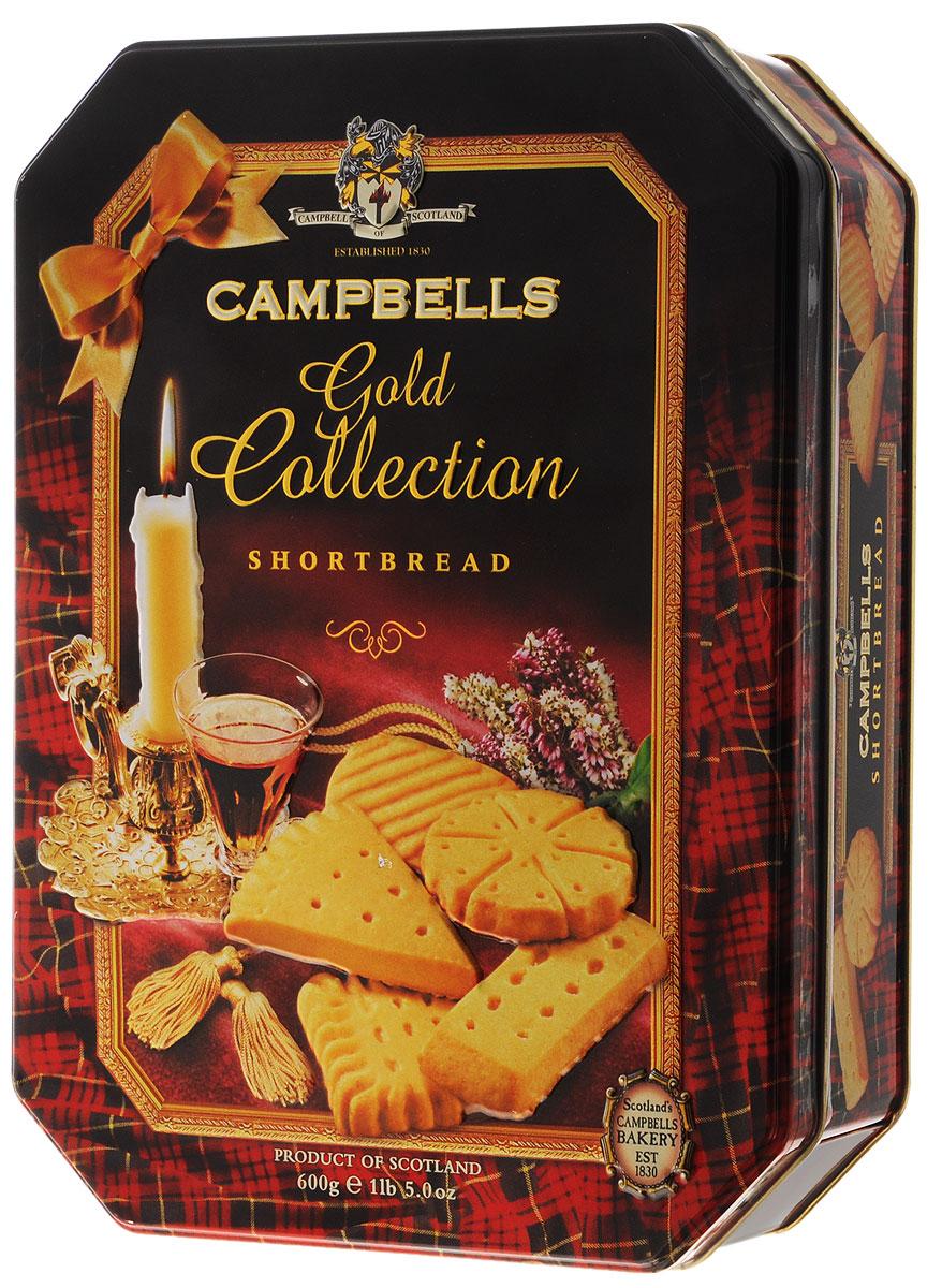 Campbells Gold Collection песочное печенье, 600 г (металлическая коробка)1520013Campbells Gold Collection - легендарное песочное печенье из Шотландии. Производитель вот уже 180 лет не изменяет рецепт приготовления этого вкуснейшего печенья, который состоит преимущественно из натуральных ингредиентов.