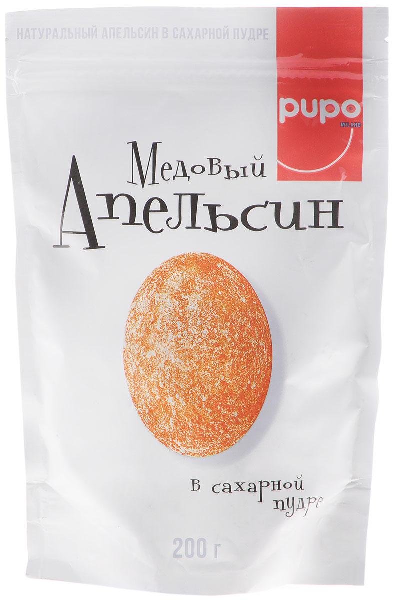 Pupo Медовый апельсин конфеты неглазированные, 200 г14.3059Фортунелла (кумкват) - это маленькие апельсины ,которые называютзолотыми. Они растут на плантациях Юго- Восточной Азии и проходят сушку естественным,экологичным образом под лучами солнца. Вяленые и выдержанные в медовом сиропе плоды Фортунелла - это богатый витаминами и минералами десерт, который имеет пряный медовый вкус, тонизирует и укрепляет иммунитет. Настоящий источник энергии и хорошего настроения.