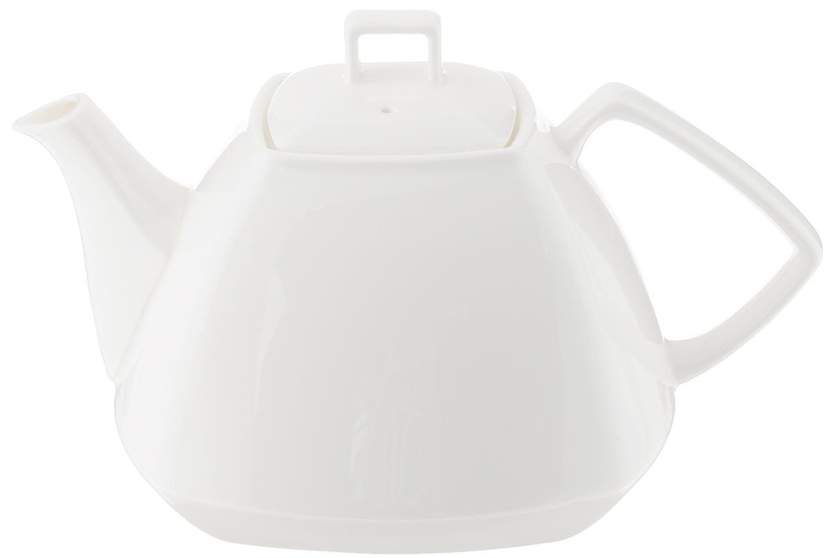 Чайник заварочный Wilmax, 1,05 лWL-994041 / 1CЗаварочный чайник Wilmax изготовлен из высококачественного фарфора. Глазурованное покрытие обеспечивает легкую очистку. Изделие прекрасно подходит для заваривания вкусного и ароматного чая, а также травяных настоев. Ситечко в основании носика препятствует попаданию чаинок в чашку. Оригинальный дизайн сделает чайник настоящим украшением стола. Он удобен в использовании и понравится каждому. Можно мыть в посудомоечной машине и использовать в микроволновой печи. размер чайника (по верхнему краю): 7 х 7 см. Высота чайника (без учета крышки): 9,5 см. Размер основания: 8,5 х 8,5 см.