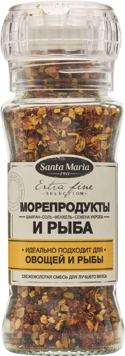 Santa Maria Смесь Морепродукты и рыба, 90 г26724Смесь Santa Maria Морепродукты и рыба - отлично сбалансированная смесь для рыбы и морепродуктов. Подходит также для супов, вегетарианских блюд и паэльи.