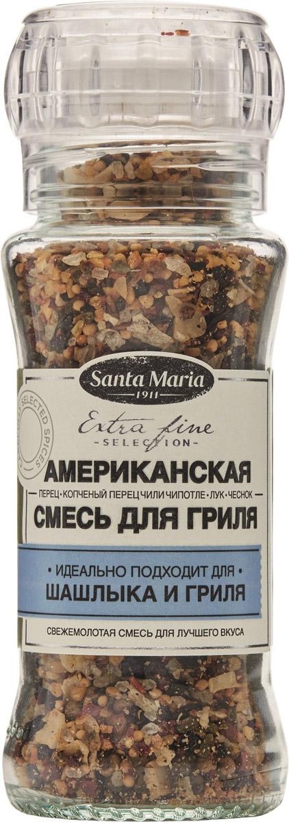 Santa Maria Американская смесь для гриля, 85 г26764Американская смесь Santa Maria придает копченый вкус любым блюдам на гриле - мясу, рыбе, овощам и морепродуктам. Смесь лука, чеснока, чили Чипотле, перца и морской соли превзойдет ожидания в приготовлении на гриле.