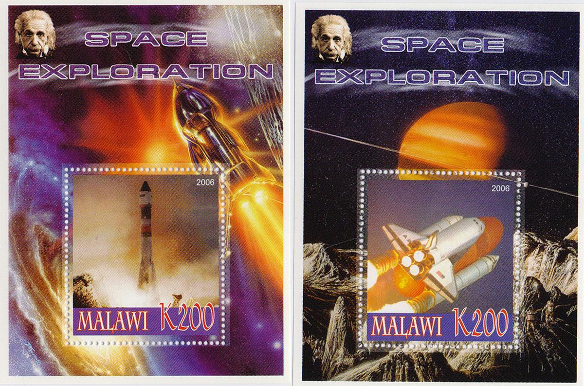 Комплект из 2 почтовых блоков Космическая экспансия. Малави, 2006 годМКСПБ 36-2016.39Комплект из 2 почтовых блоков Космическая экспансия. Малави, 2006 год. Размер блоков: 7.5 х 10 см. Размер марок: 4 х 4.5 см. Сохранность хорошая.