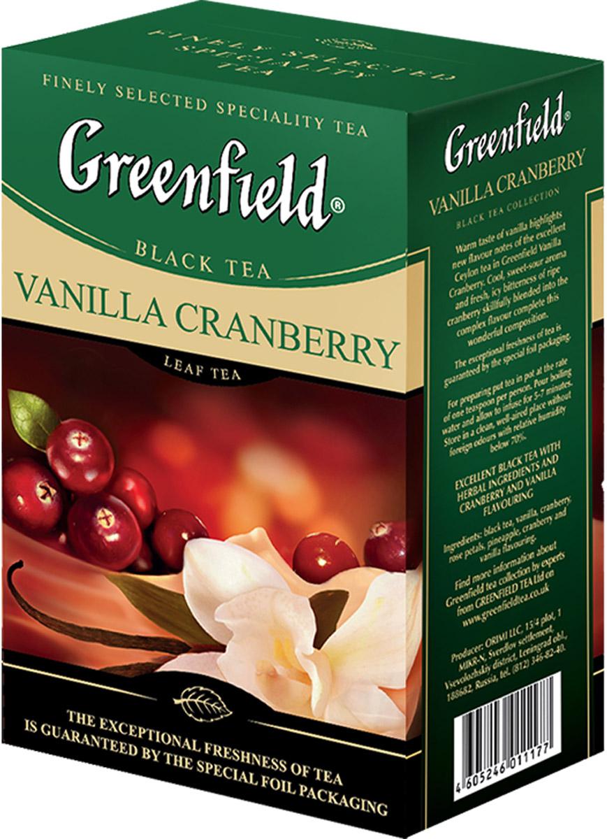 Интригующий купаж черного чая, в котором аромат свежей спелой клюквы гармонично сочетается с нотками мадагаскарской ванили. Теплая волна ванили наполняет новым дыханием великолепный цейлонский чай в композиции Гринфилд Ванилла Кранберри. Прохладный, кисловато-сладкий аромат и свежая «морозная» горчинка спелой клюквы, виртуозно вплетенные в грани сложного вкуса, завершают великолепную композицию Гринфилд Ванилла Кранберри.