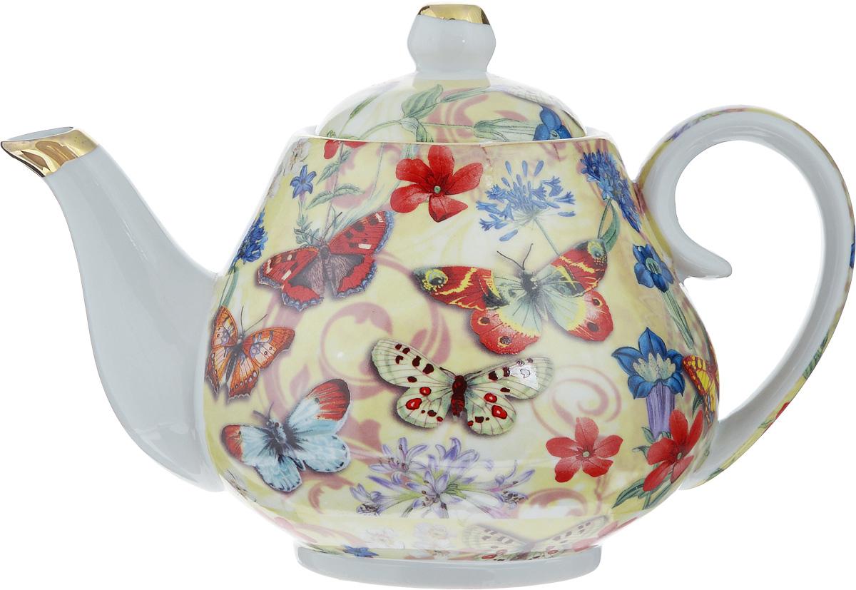 Чайник заварочный Loraine Бабочки, 1 л24558Заварочный чайник Loraine изготовлен из высококачественной керамики. Он имеет изящную форму и декорирован нежным рисунком с изображением бабочек. Чайник сочетает в себе стильный дизайн с максимальной функциональностью. Красочность оформления придется по вкусу и ценителям классики, и тем, кто предпочитает утонченность и изысканность. Чайник упакован в подарочную коробку из плотного картона. Внутренняя часть коробки задрапирована атласом, и чайник надежно крепится в определенном положении благодаря особым выемкам в коробке. Диаметр по верхнему краю: 8 см. Диаметр основания: 8 см. Высота чайника (с учетом крышки): 14,5 см. Высота чайника (без учета крышки): 11,5 см.