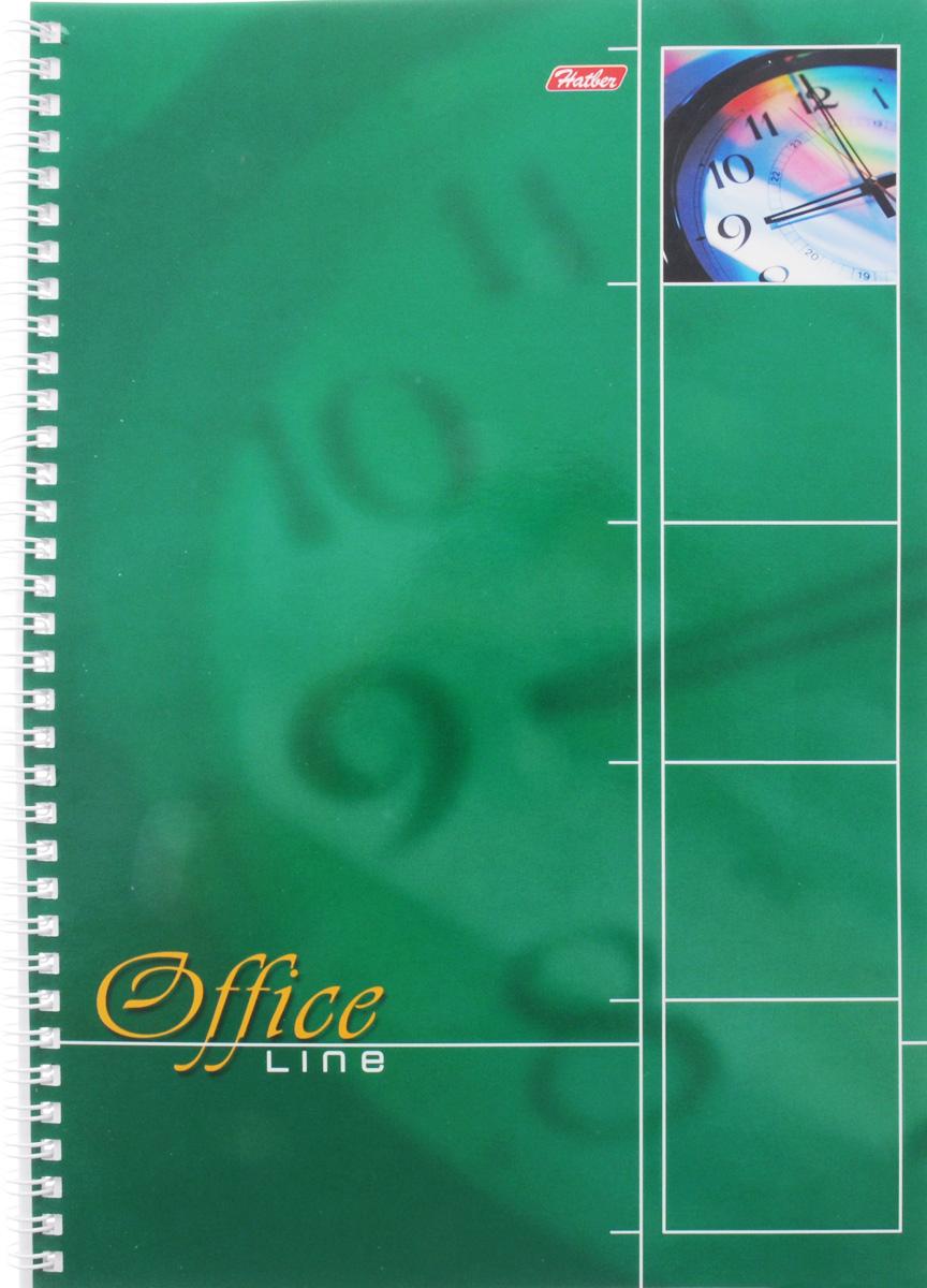 Hatber Тетрадь Office Line 80 листов в клетку цвет зеленый80Т4вмB1гр_зеленыйТетрадь Hatber Office Line непременно подойдет как школьнику, так и студенту. Обложка тетради выполнена из картона и оформлена в зеленом цвете. Внутренний блок состоит из 80 листов в синюю клетку с закругленными углами, формата А4. Листы тетради соединены надежным металлическим гребнем. Такая удобная тетрадь от Hatber Office Line станет для вас надежным помощником в учебных или офисных делах.