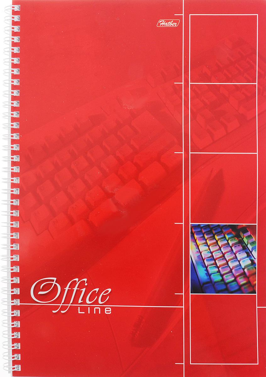 Hatber Тетрадь Office Line 80 листов в клетку цвет красный80Т4вмB1гр_красныйТетрадь Hatber Office Line непременно подойдет как школьнику, так и студенту. Обложка тетради выполнена из картона и оформлена в красном цвете. Внутренний блок состоит из 80 листов в синюю клетку с закругленными углами, формата А4. Листы тетради соединены надежным металлическим гребнем. Такая удобная тетрадь от Hatber Office Line станет для вас надежным помощником в учебных или офисных делах.