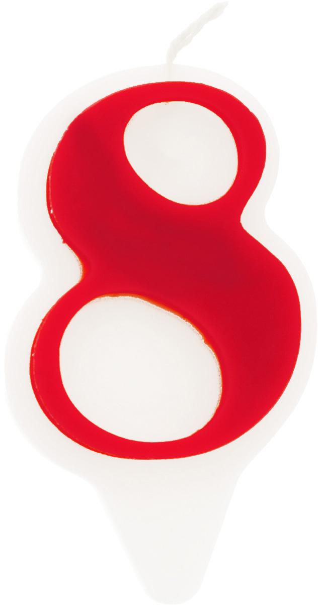 Свеча-цифра Принт Торг Гармония. Цифра 8, цвет: красный, белый05.208.06Свеча-цифра для торта Принт Торг Гармония. Цифра 8 изготовлена из высококачественного пищевого парафина. Такая свеча станет отличным решением для декорирования торта к празднику. Ее можно комбинировать с другими цифрами. Изделие хорошо и долго горит. С этой свечой ваш праздник станет еще удивительнее и веселее. Высота свечи (без учета фитиля): 8,5 см.