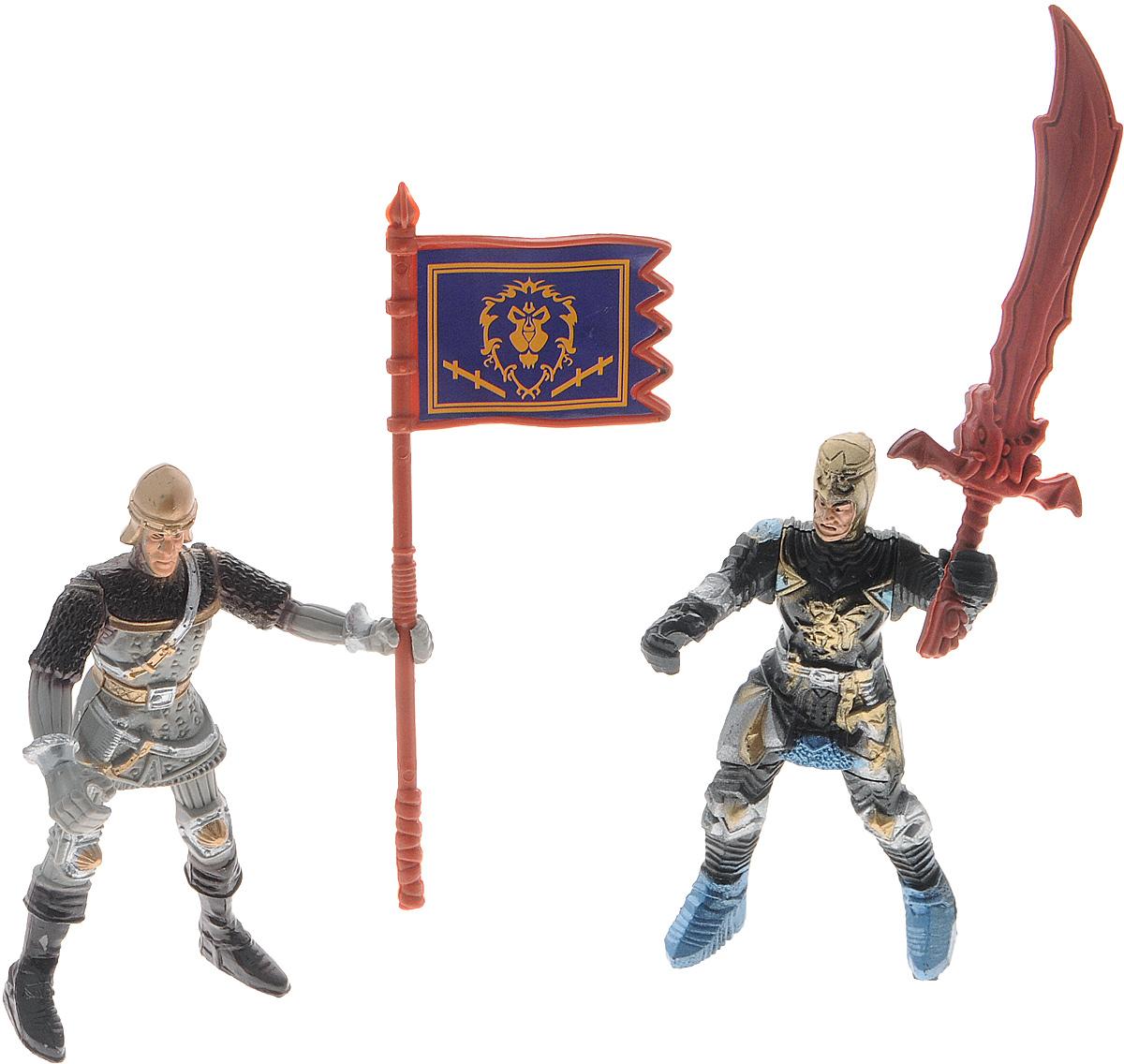 Shantou Игровой набор KnightsA054-H39484Игровой набор Shantou Knights включает в себя двух средневековых воинов и аксессуары к ним. Солдатики снабжены разнообразными видами оружия: есть и большой двуручный меч, и легкая пика. Боевое знамя, обязательный атрибут любого войска, будет развеваться на полях сражений и поддерживать боевой дух товарищей. Комплект солдатиков станет отличным подспорьем в игрушечных баталиях мальчика.