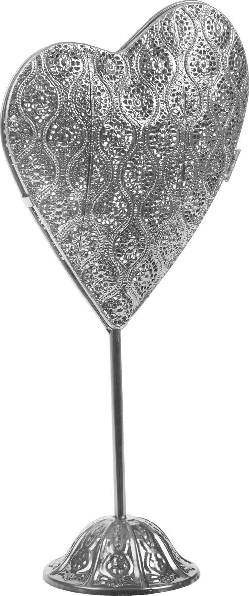 Фигура декоративная Gardman Heart, с LED подсветкой, высота 49 см17824Декоративная фигура на ножке Gardman Heart, выполненная из стали, станет оригинальным подарком для всех любителей необычных вещей. Фигура оснащена LED подсветкой и работает от 2 батареек АА (в комплект не входят). Имеется таймер включения и выключения. Изысканный сувенир станет прекрасным дополнением к интерьеру. Вы можете поставить фигурку в любом месте, где она будет удачно смотреться и радовать глаз. Размер фигуры: 24 х 3,5 х 39 см.