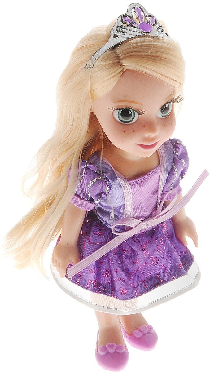 Карапуз Мини-кукла озвученная РапунцельRAP002XМини-кукла Карапуз Рапунцель олицетворяет собой главную героиню популярного одноименного мультфильма от компании Дисней в детстве. У куклы реалистичные пластиковые глаза и густые ресницы, которые делают взгляд особенно выразительным. Малышка Рапунцель одета в милое сиреневое платье и туфельки, а голову украшает диадема. Ручки, ножки и голова куколки подвижны, а ее длинные и светлые волосы можно расчесывать. В набор входят расческа и две заколочки. Нажмите на кнопку на груди куклы, чтобы услышать, как Рапунцель разговаривает, рассказывает стихи или поет красивую песню. Рекомендуется докупить 3 батарейки напряжением 1,5V типа LR41 (товар комплектуется демонстрационными).