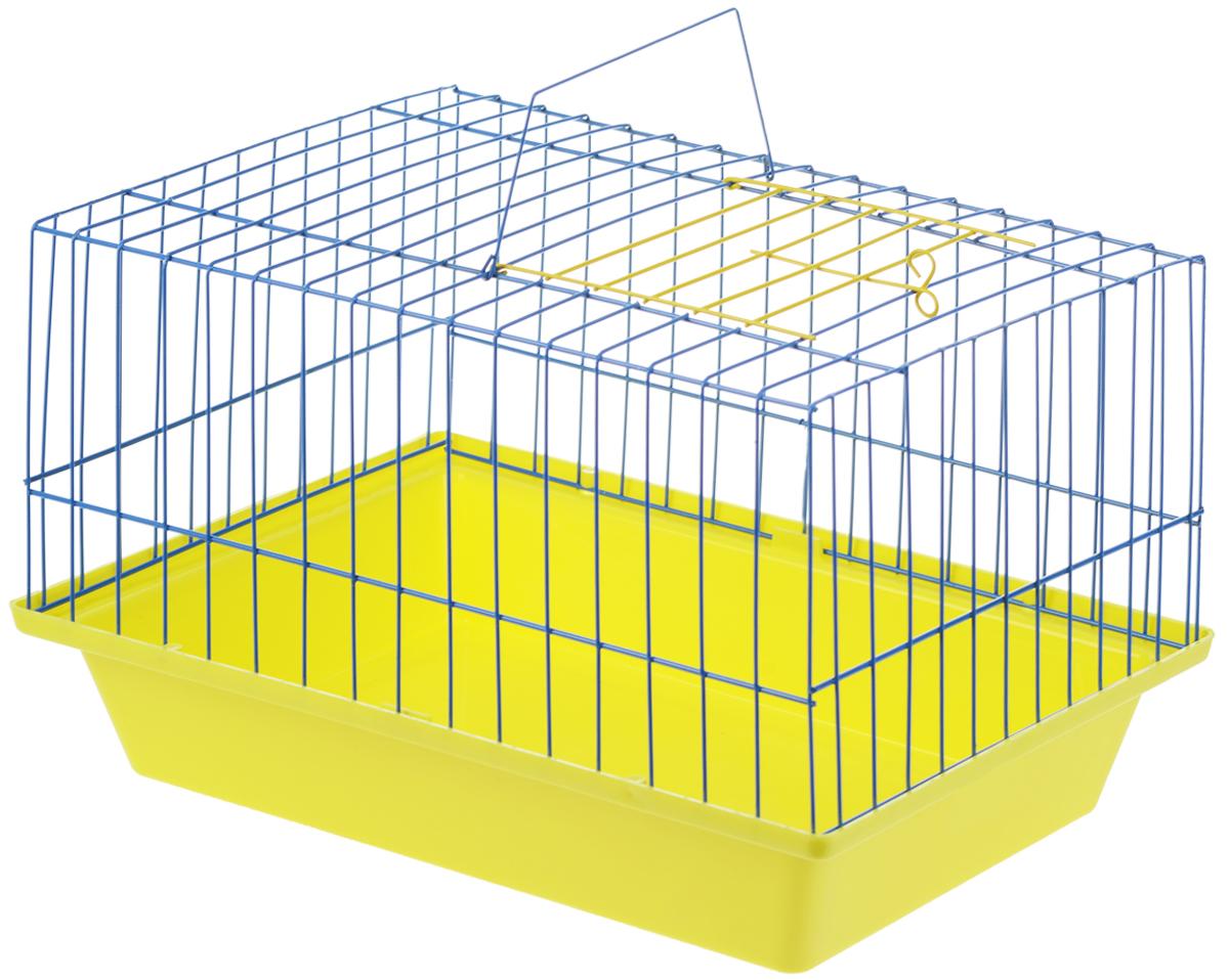 Клетка для морской свинки ЗооМарк, цвет: желтый поддон, голубая решетка 41 х 30 х 25 см210_желтый, голубойКлетка ЗооМарк, выполненная из полипропилена и металла, подходит для морских свинок и других грызунов. Клетка имеет яркий поддон, удобна в использовании и легко чистится. Сверху имеется ручка для переноски. Такая клетка станет личным пространством и уютным домиком для вашего питомца.
