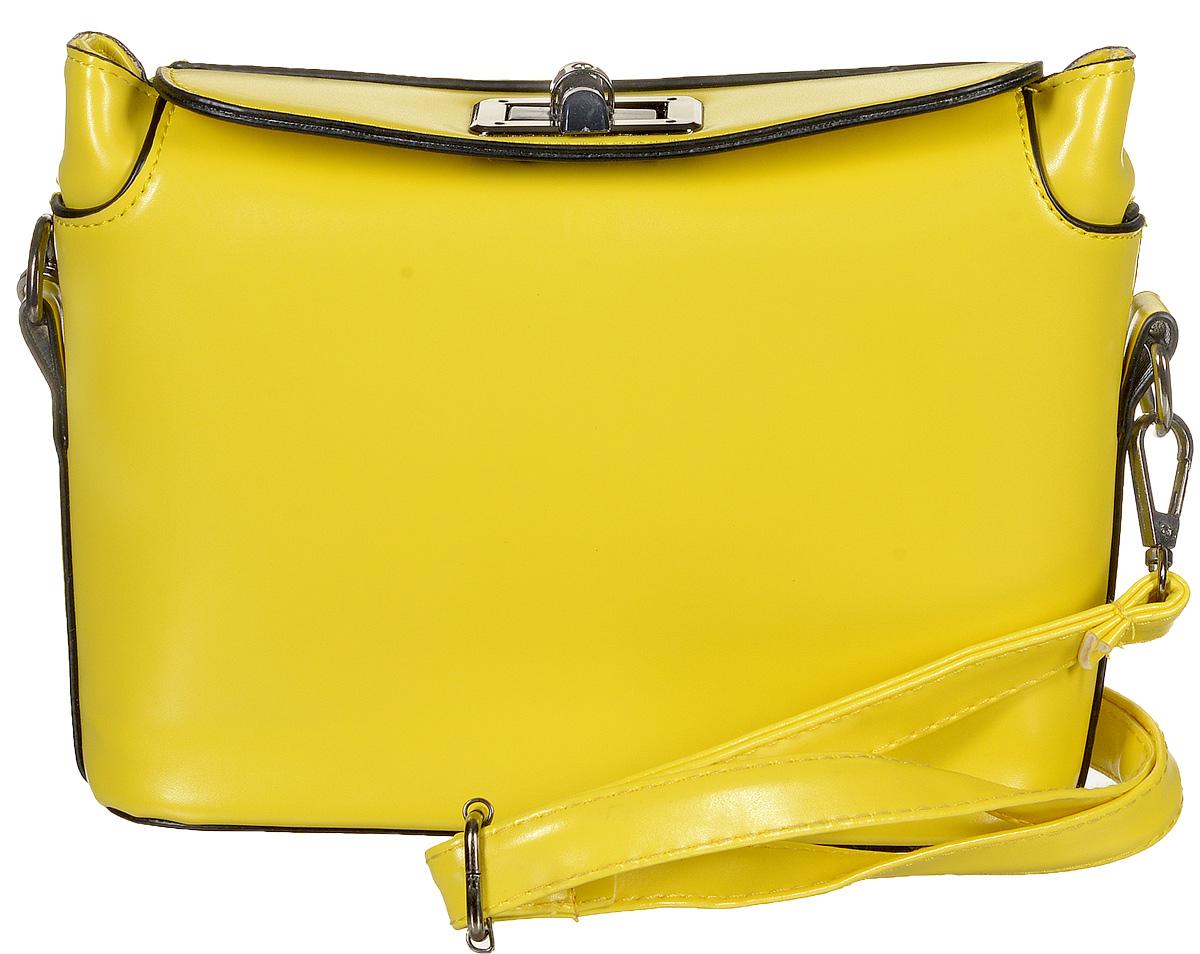 Сумка женская Kawaii Factory Inspiring, цвет: желтый. KW100-000030KW100-000030Когда хочется расслабиться и не думать о сложных сочетаниях вещей, на помощь приходят базовые сумочки, которые отлично смотрятся с любым образом. Простая, но очень милая сумка Inspiring от Kawaii Factory - удачный выбор, даже если вы совсем не любите выбирать. Изделие выполнено из искусственной кожи и оснащено удобным замком-вертушкой, который точно сбережет ваши вещи. Внутренний объем позволяет вместить в аксессуар все необходимое. Модель имеет одно основное отделение. Внутри имеется прорезной кармашек на застежке-молнии и два накладных кармана для телефона и мелочей. В комплекте пристежной плечевой ремень, который регулируется по длине. Лаконичная и простая форма помогут этой сумочке вписаться даже в самый сложный и продуманный гардероб. Иногда очень важно, чтобы вещи были не только милыми и красивыми, но и удобными, а сумочка Inspiring полностью отвечает этим требованиям!