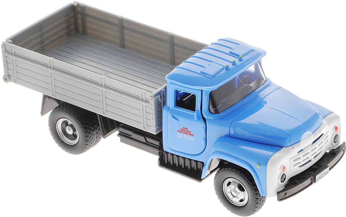 ТехноПарк Грузовик ЗИЛ 130 БетонX600-H36009-RМашинка ТехноПарк ЗИЛ 130 Бетон, выполненная из пластика, станет любимой игрушкой вашего малыша. Игрушка представляет собой модель грузового автомобиля марки ЗИЛ. У машинки открываются дверцы кабины и капот, кузов поднимается, задний борт кузова открывается. При открывании крышки капота и дверей кабины активируются световые и звуковые эффекты. Прорезиненные колеса обеспечивают надежное сцепление с любой гладкой поверхностью. Ваш ребенок будет часами играть с этой машинкой, придумывая различные истории. Порадуйте его таким замечательным подарком! Для работы игрушки необходимы 3 батарейки типа АG13 (LR44) напряжением 1,5V (товар комплектуется демонстрационными).