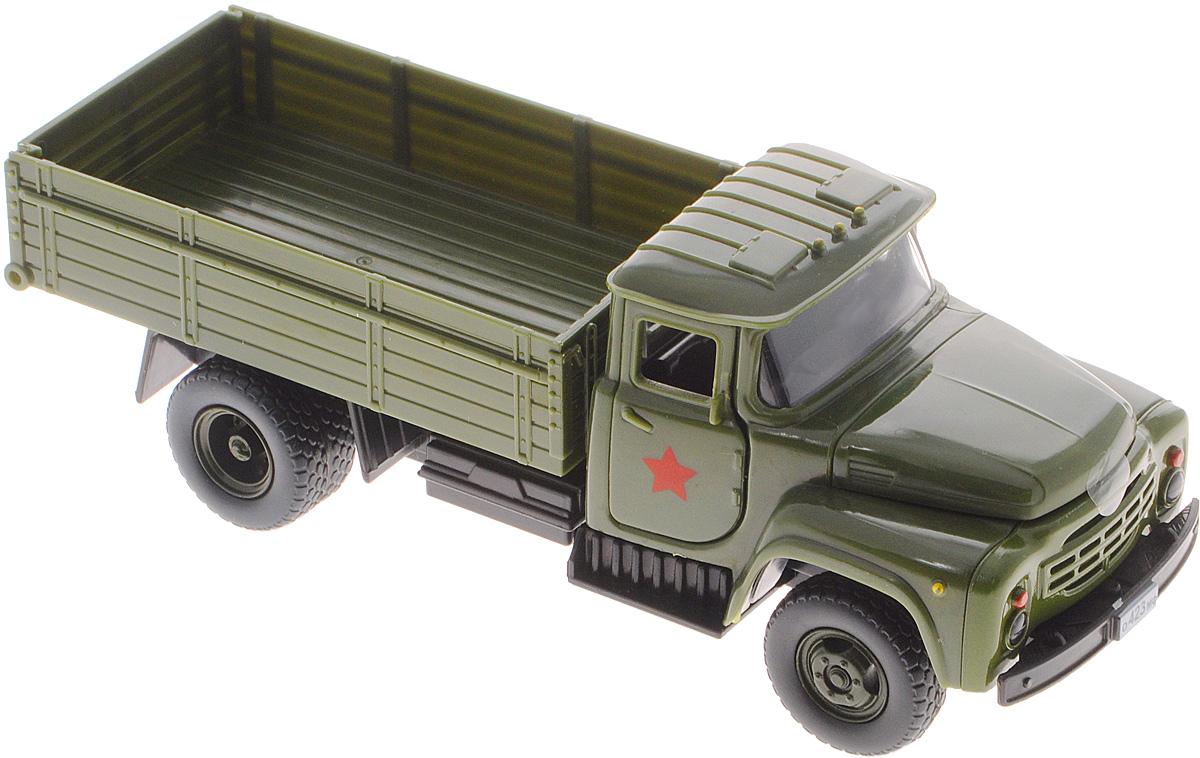 ТехноПарк Грузовик ЗИЛ 130 военныйX600-H36006-RМашинка ТехноПарк ЗИЛ 130 военный, выполненная из пластика, станет любимой игрушкой вашего малыша. Игрушка представляет собой модель армейского грузового автомобиля марки ЗИЛ. У машинки открываются дверцы кабины и капот, кузов поднимается, задний борт кузова открывается. При открывании крышки капота и дверей кабины активируются световые и звуковые эффекты. Прорезиненные колеса обеспечивают надежное сцепление с любой гладкой поверхностью. Ваш ребенок будет часами играть с этой машинкой, придумывая различные истории. Порадуйте его таким замечательным подарком! Для работы игрушки необходимы 3 батарейки типа АG13 (LR44) напряжением 1,5V (товар комплектуется демонстрационными).