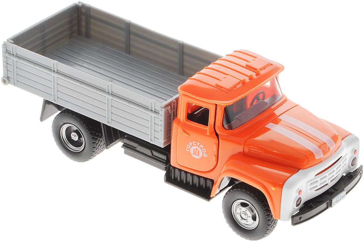 ТехноПарк Грузовик ЗИЛ 130 ГорстройX600-H36007-RМашинка ТехноПарк ЗИЛ 130 Горстрой, выполненная из пластика, станет любимой игрушкой вашего малыша. Игрушка представляет собой модель грузового автомобиля марки ЗИЛ. У машинки открываются дверцы кабины и капот, кузов поднимается, задний борт кузова открывается. При открывании крышки капота и дверей кабины активируются световые и звуковые эффекты. Прорезиненные колеса обеспечивают надежное сцепление с любой гладкой поверхностью. Ваш ребенок будет часами играть с этой машинкой, придумывая различные истории. Порадуйте его таким замечательным подарком! Для работы игрушки необходимы 3 батарейки типа АG13 (LR44) напряжением 1,5V (товар комплектуется демонстрационными).
