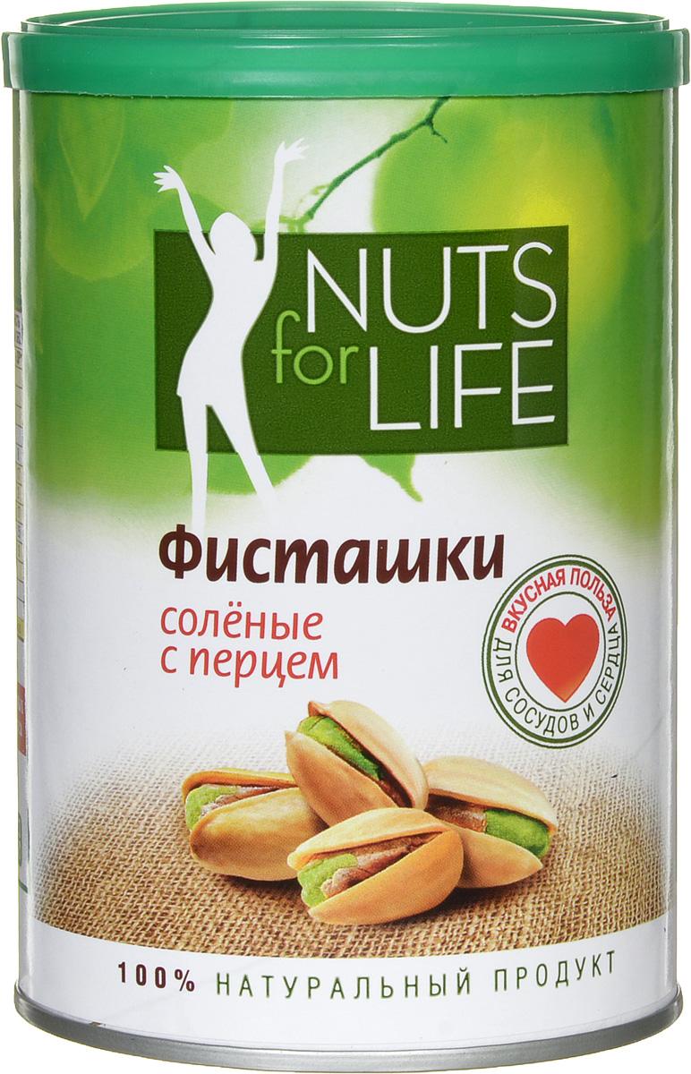 Nuts for Life Фисташка обжаренная соленая с перцем, 175 г U920036