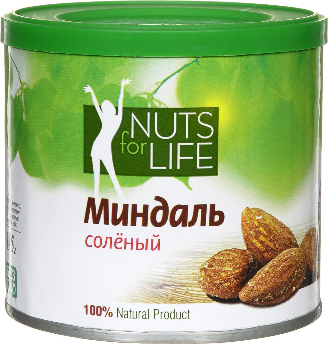 Nuts for Life Миндаль обжаренный соленый, 115 г U920944