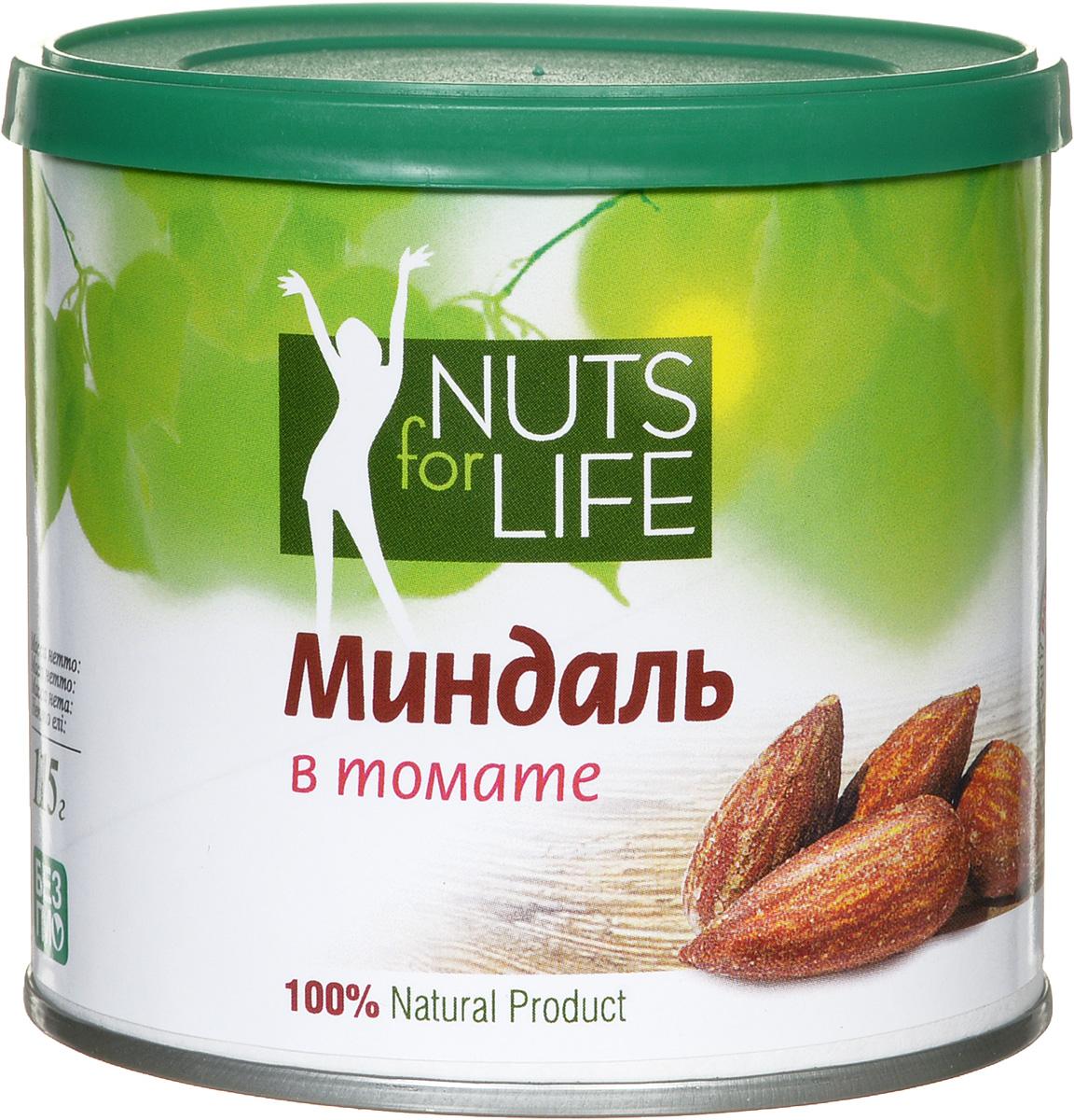 Nuts for Life Миндаль обжаренный соленый в томате, 115 г